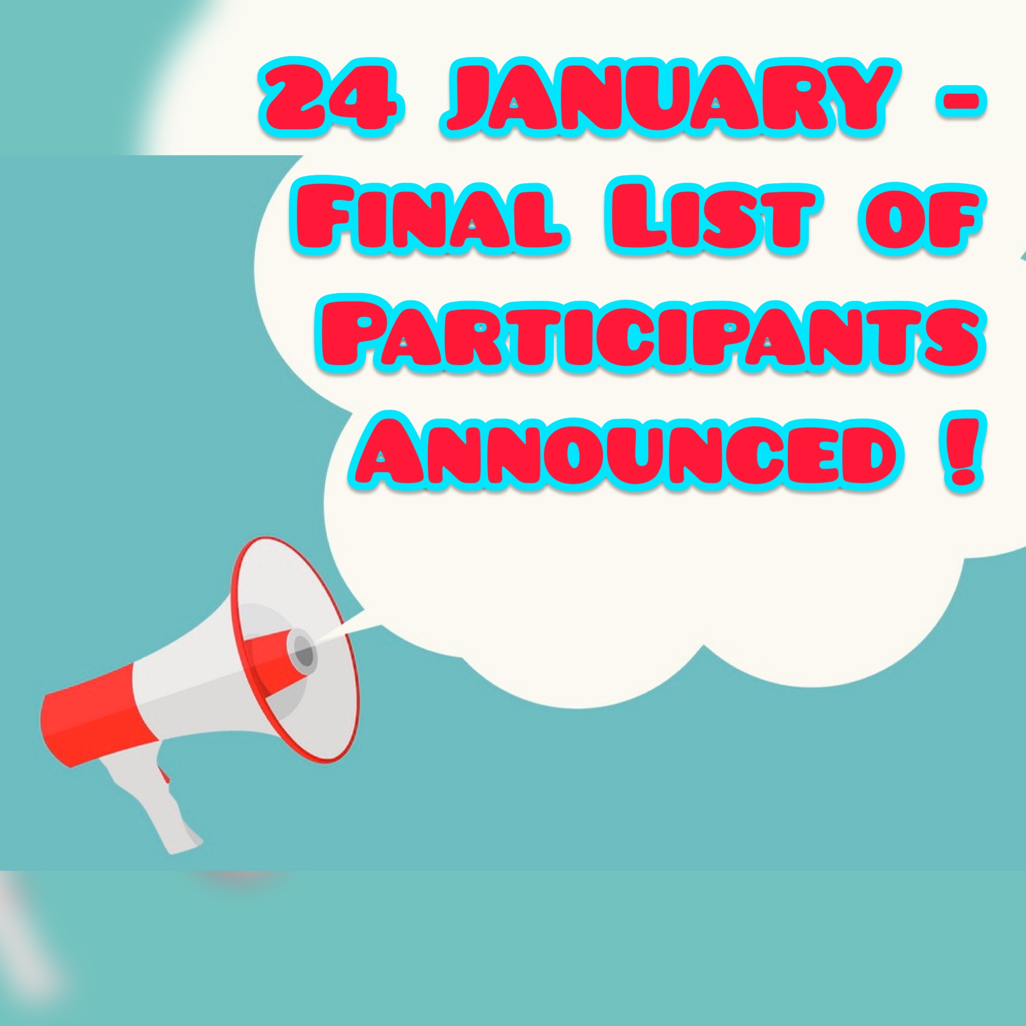 Attention! Announcement of the final list of participants for the Winter School postponed.