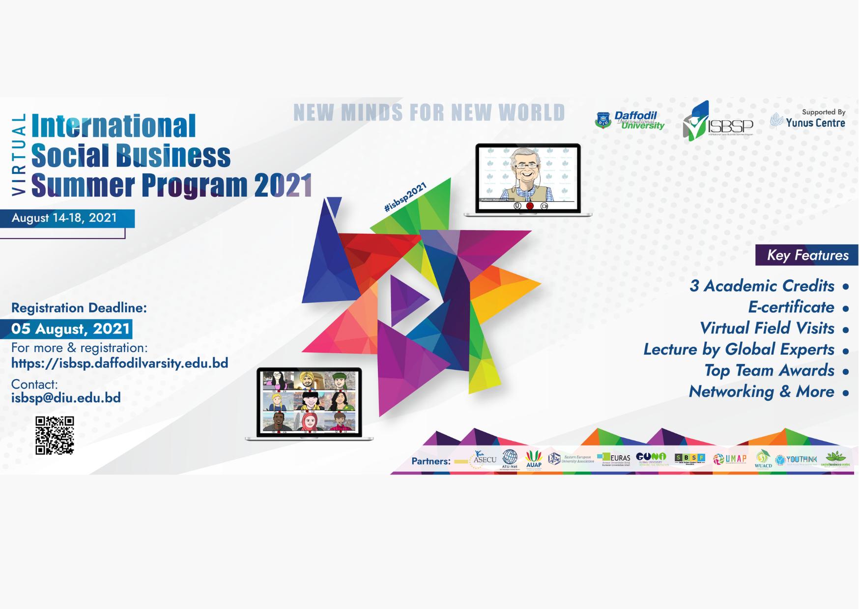 Daffodil International University is organizing a Social Business Summer Program 2021
